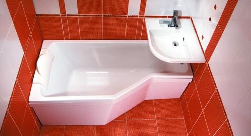 Акриловая ванна на фото