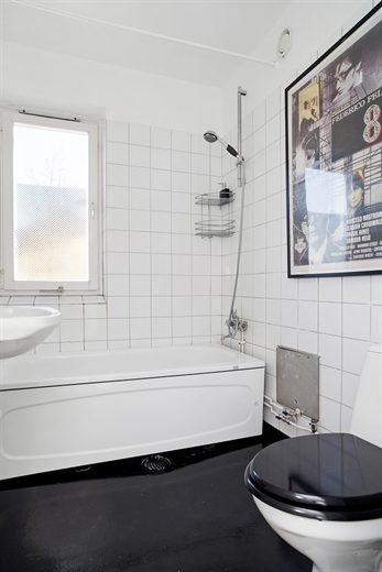 черно белая ванная камната