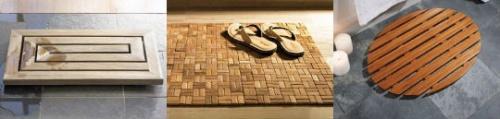 Деревянный коврик для ванной комнаты
