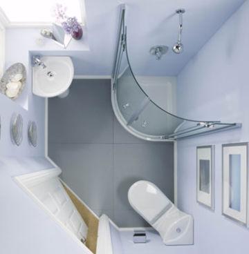 угловая раковина в дизайне ванной