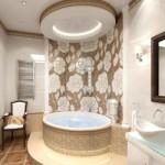 Потолки в ванной из гипсокартона