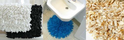 Текстильный коврик для ванной