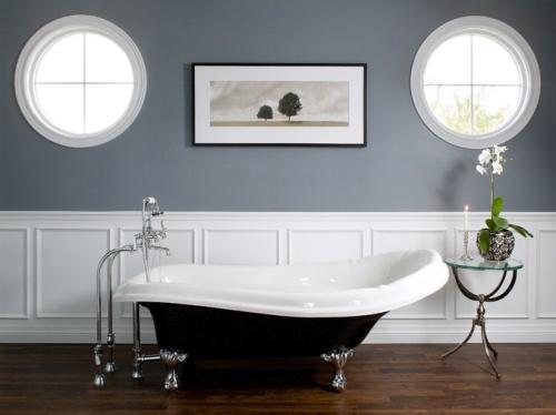 Дизайнерская ванная с круглым окном