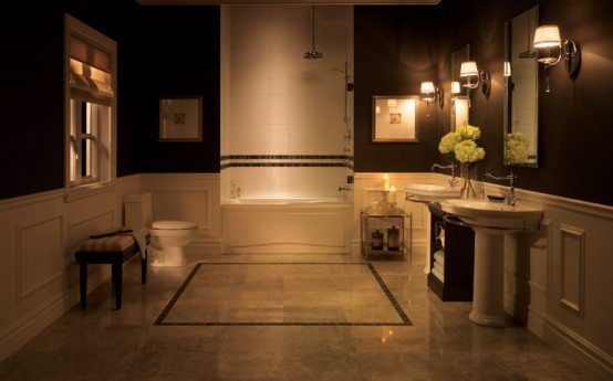 Расслабляющее освещение ванной