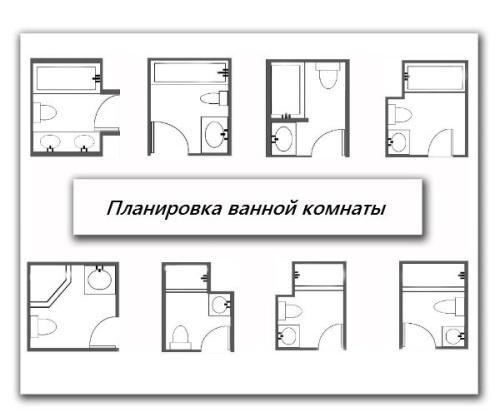 Вырианты планировке малогабаритных ванных комнат