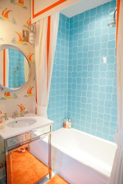 Дизайн керамической плитки для ванной - фото