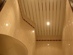 комплект реечного потолка для ванной