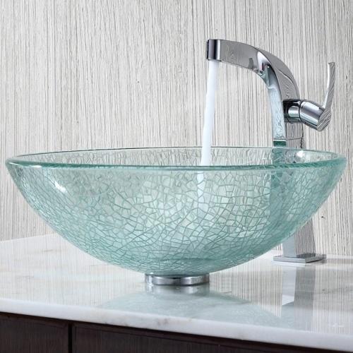 Стеклянные раковины для ванных комнат