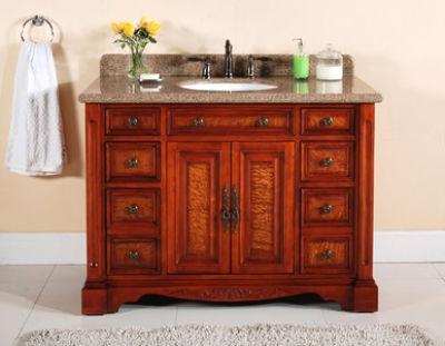 деревянный комод для ванной в стиле прованс