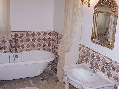 керамическая плитка для ванной в стиле прованс