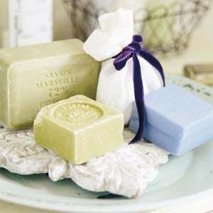 стильное мыло для ванной в стиле прованс