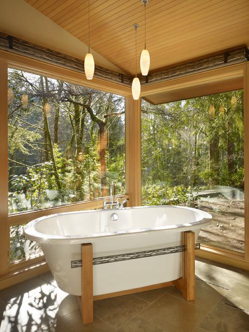 ванная комната в японском традиционном стиле