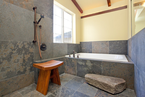ванная в японском стиле на фото