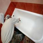 Ремонт и реставрация чугунных ванн
