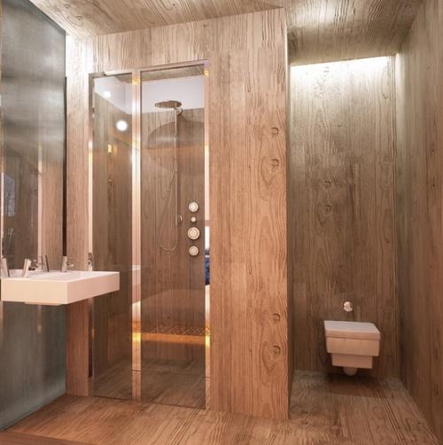 ванная комната и санузел из дерева