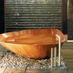 Место деревянной ванны в интерьере