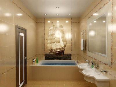 красивая фотоплитка в ванную