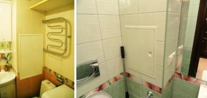 Способ скрытия труб в ванной