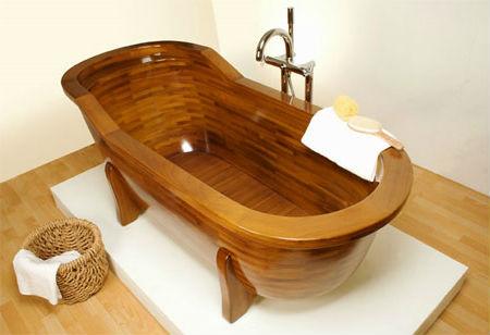 деревянная ванна на ножках