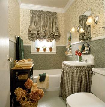 Декор в интерьере ванной комнаты в стиле прованс фото