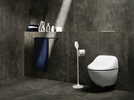 Декор ванной комнаты в стиле хай тек