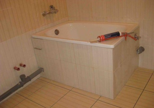 Экран для ванны угловой