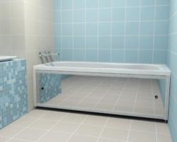 Декоративные экраны для ванны своими