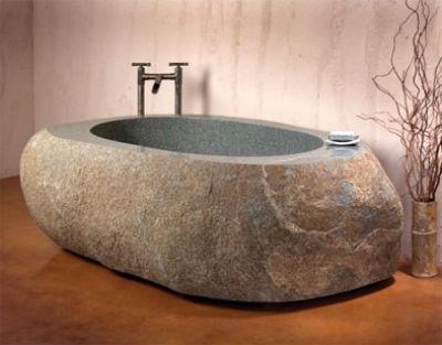 Ванна из цельного мрамора