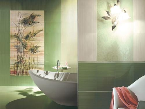 керамическое панно для ванной