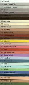 Цветовая гамма отттенков затирки для швов