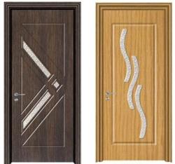 Двери для ванной и туалета со вставками из стекла