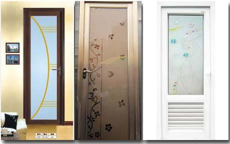 двери межкомнатные туалет и ванна со вставками из стекла