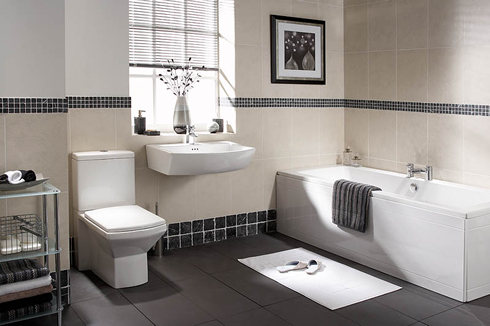 Классический пример интерьера ванной