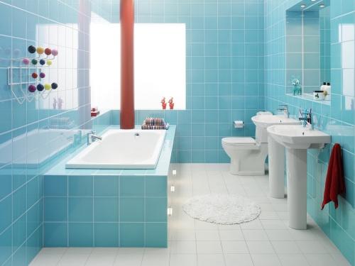 Интерьер совмещенной ванны и санузла
