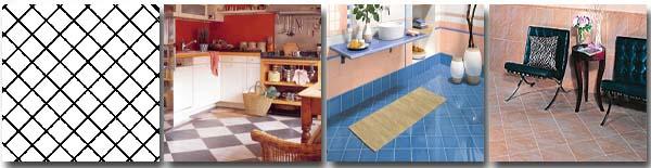 Укладка керамической плитки «диагональным» способом