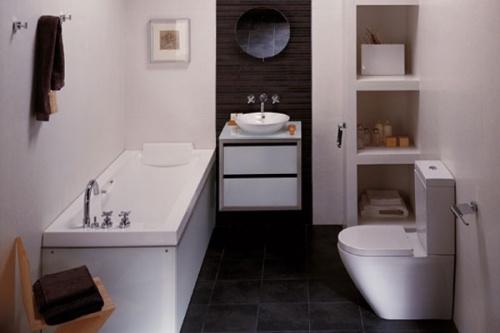 Стилизация ванной под модернизм