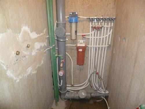 Коллекторное подключение трубопровода
